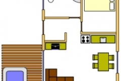 The layout of the cottages